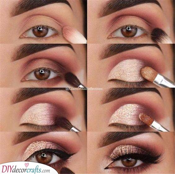 A Shimmering Gold - Perfect Smokey Eye Makeup Ideas