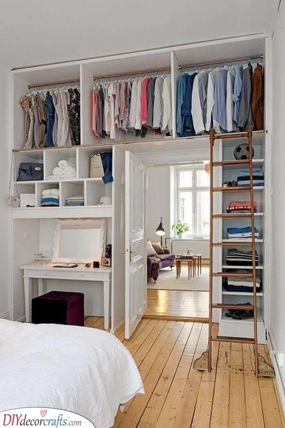 A Creative Closet - Small Bedroom Ideas