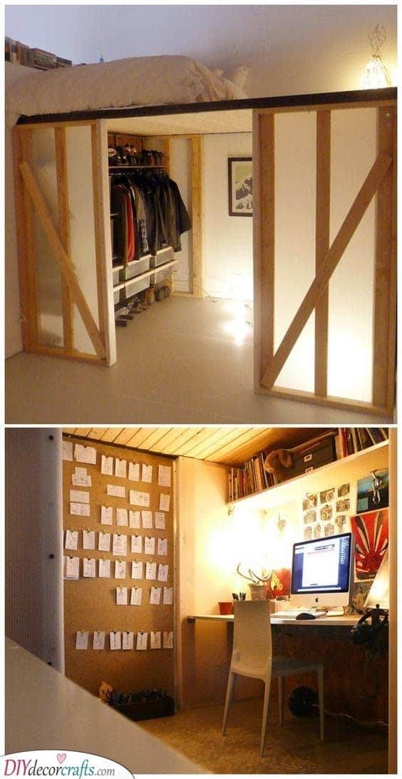 Create a Separate Space - Great Ideas for Small Bedrooms