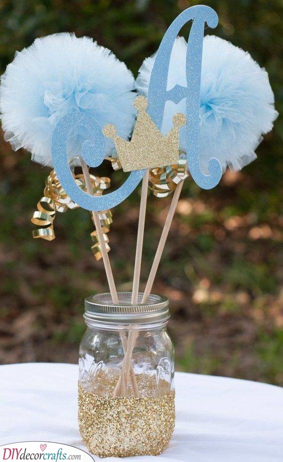 An Initial - Baby Shower Centrepieces Boy