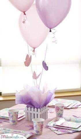 Butterflies - Beautiful Baby Shower Table Centrepieces