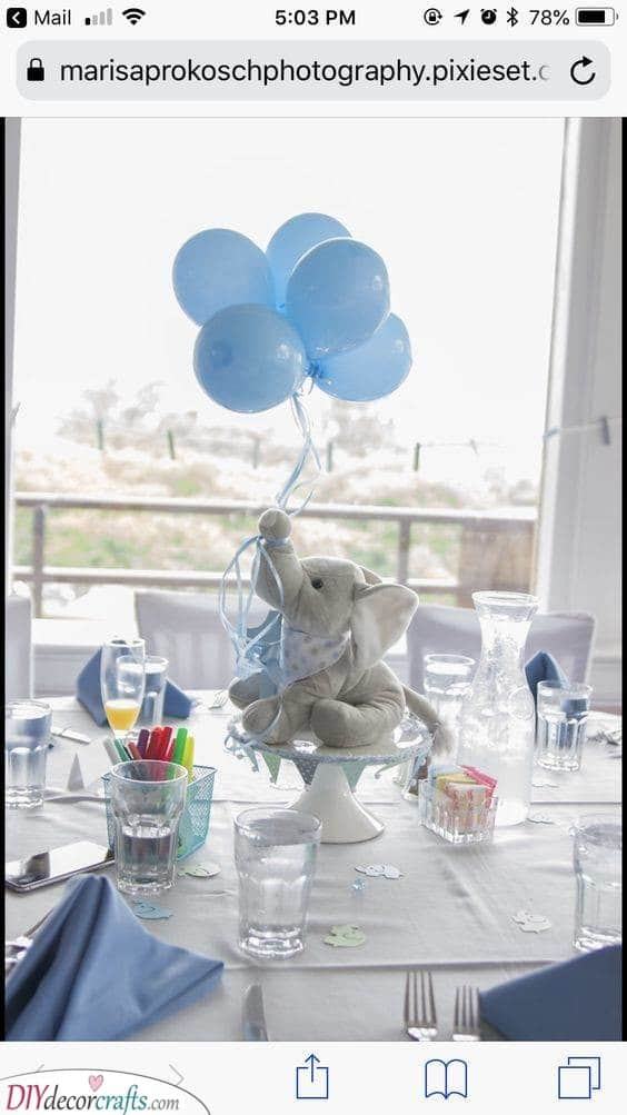 Another Elephant - Baby Shower Table Ideas