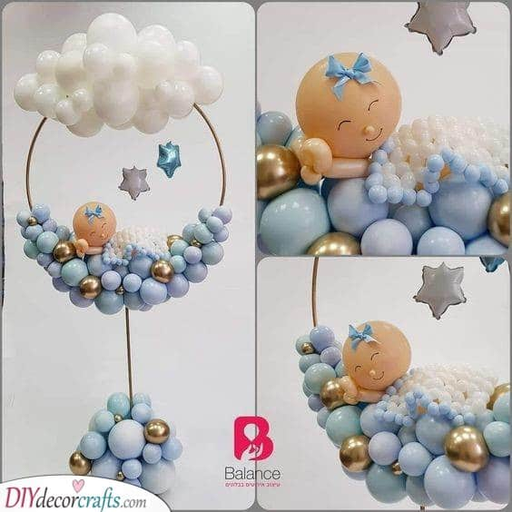 Good Night - Baby Shower Table Centrepieces