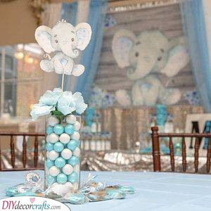 Adorable Elephants - Awesome Baby Shower Table Ideas