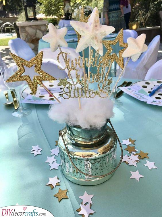 A Starry Atmosphere - Baby Shower Centrepieces Boy