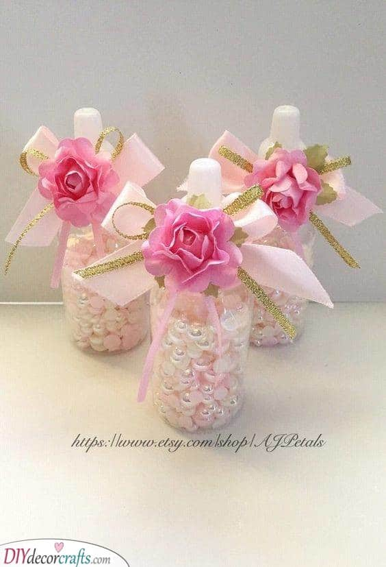 Baby Bottles - Decorating Each Table