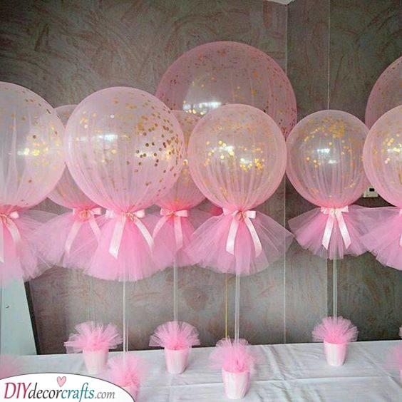 Pots of Balloons - Perfect Idea