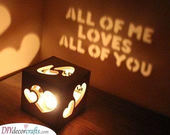 Candleholder - DIY Birthday Present Ideas for Boyfriend