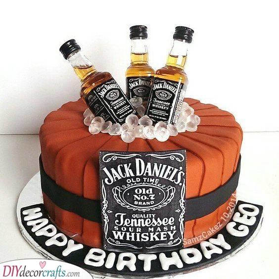 A Delicious Cake - Use His Favourite Booze