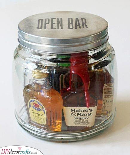 An Open Bar - A Special Treat for Him