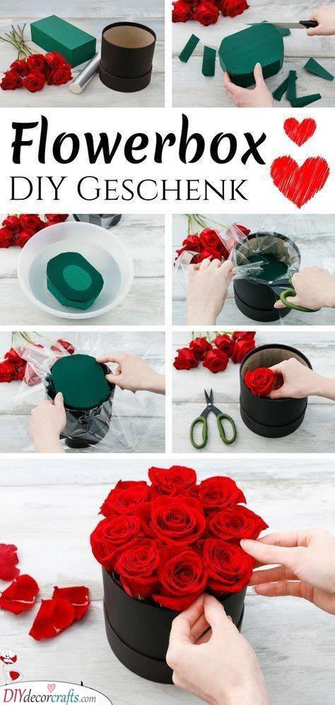 Box of Flowers - Romantic Roses