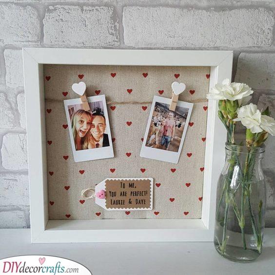 Polaroids in Frame - Birthday Gift for Girlfriend
