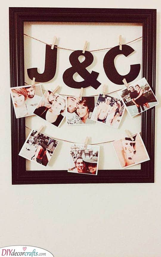 The Frame of Polaroids - Good Birthday Gifts for Girlfriend