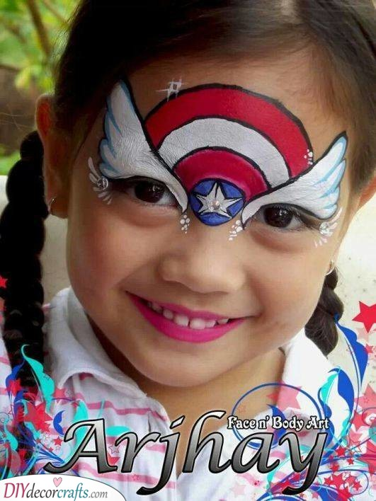 Captain America - Face Painting for Parties