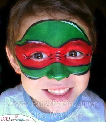 Teenage Mutant Ninja Turtle - Quick Face Painting Ideas