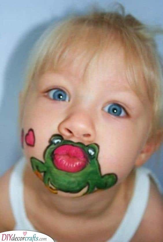 Kissing a Frog - Funny Face Painting for Children