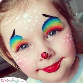 A Rainbow Clown - Happy Face Painting for Parties