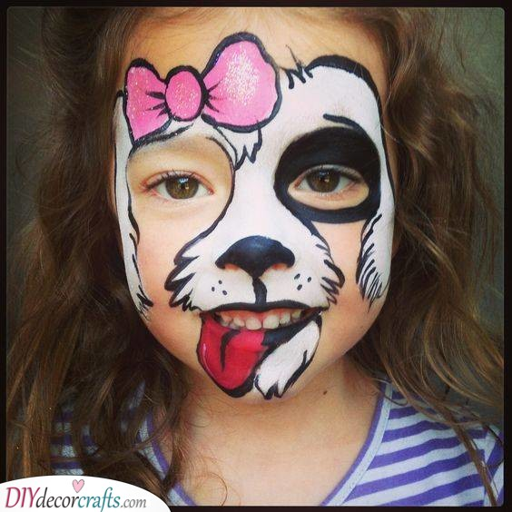 Adorable Dog - Face Painting for Kids