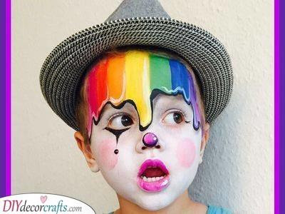 A Unique Clown Look - Melting Rainbow