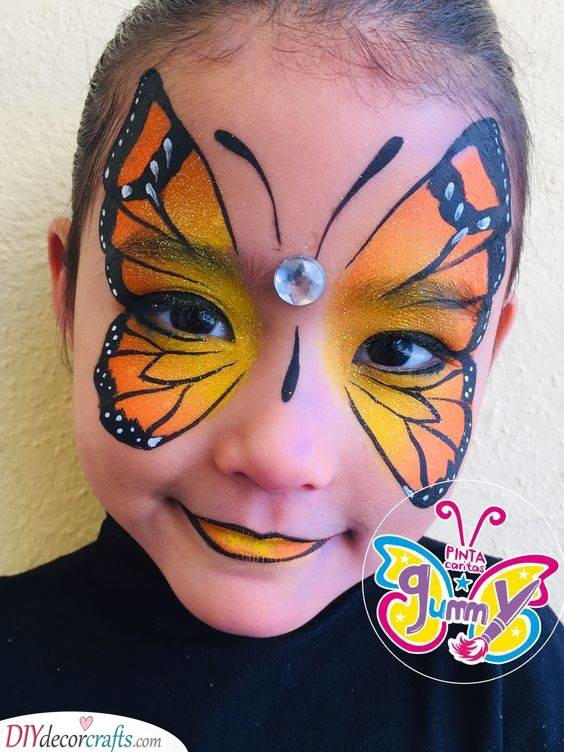 A Majestic Butterfly - Face Painting for Parties