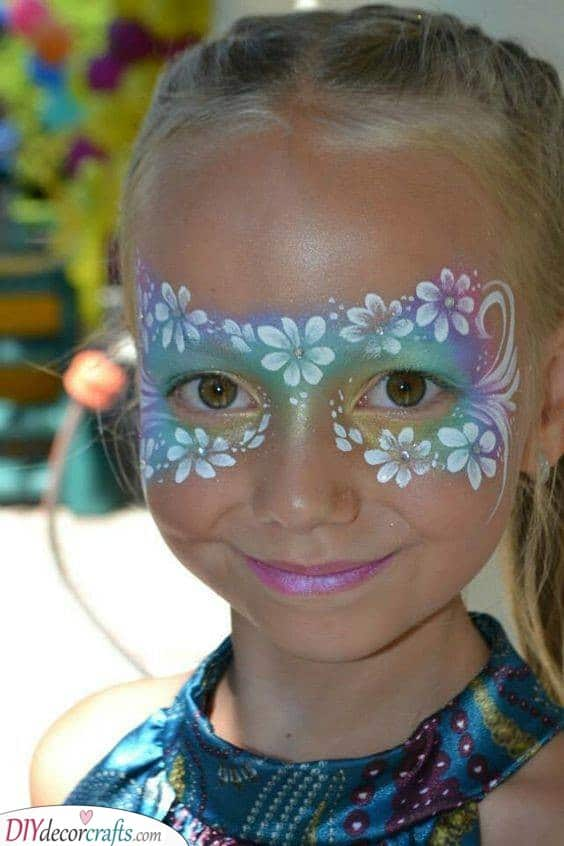 Flowers Over a Rainbow - Gorgeous Face Painting for Parties
