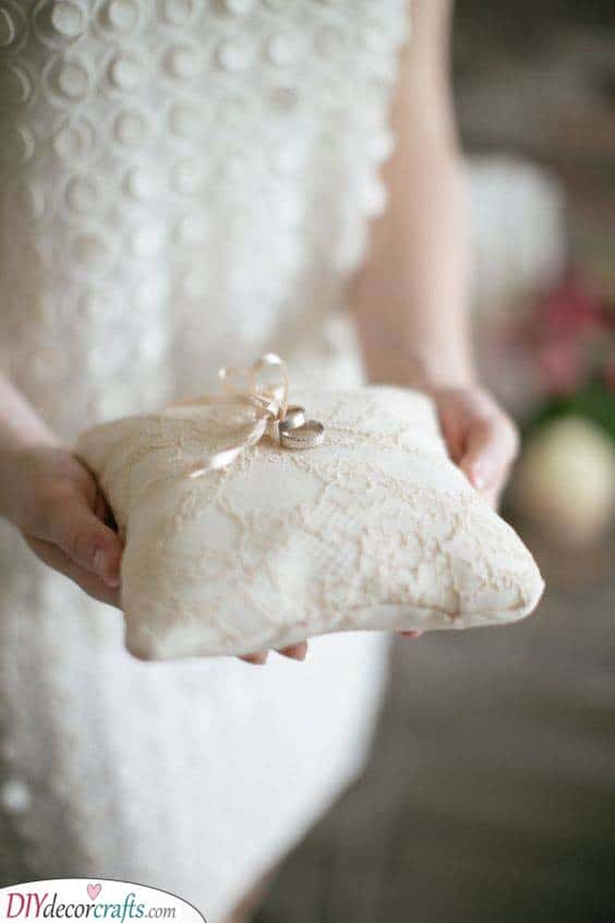 A Cute Cushion - Wedding Ring Holders