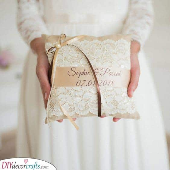 Names on Lace - A Beautiful Pillow