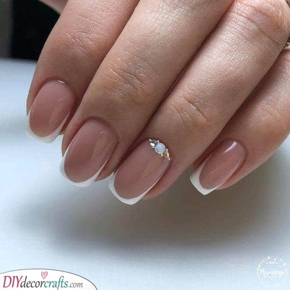 A Delicate Gem - French Nail Designs
