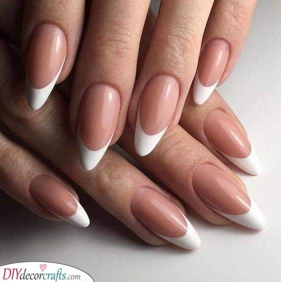 Beautiful and Simplistic - Oval French Nails