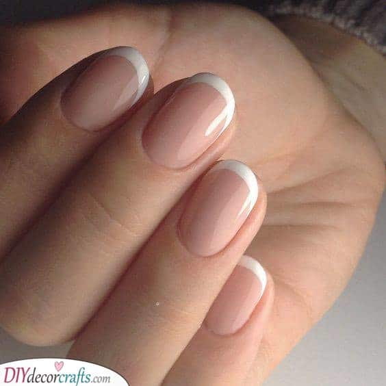 A Standard Manicure - Simple French Nail Designs