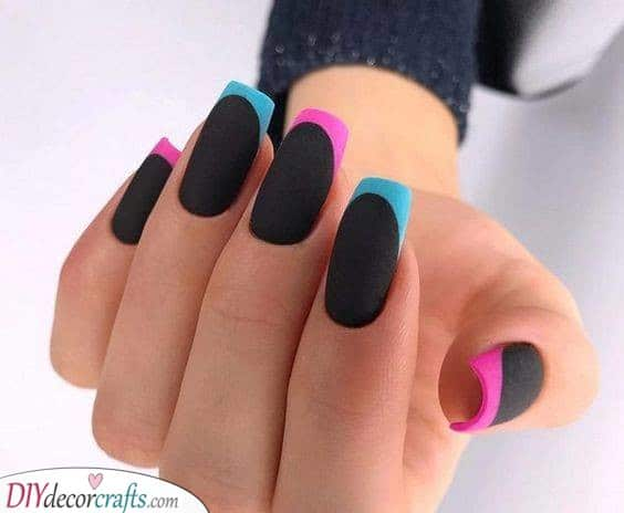 Black and Matte - With Funky Colours