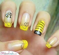A Busy Bee - Cute French Manicure Ideas