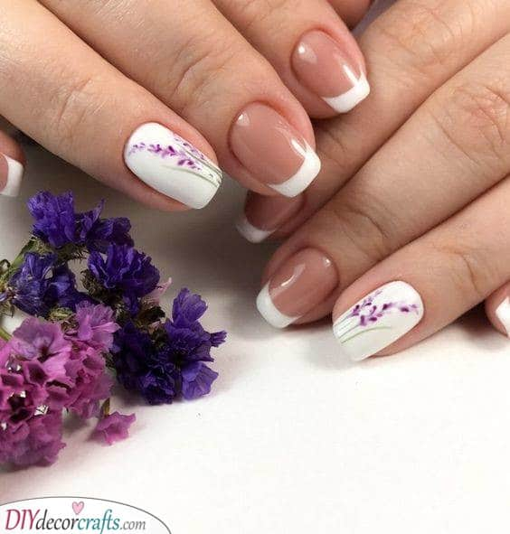 Lovely in Lavender - French Manicure Nails