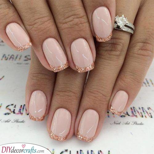 Glittery Tips - The Best Nail Ideas
