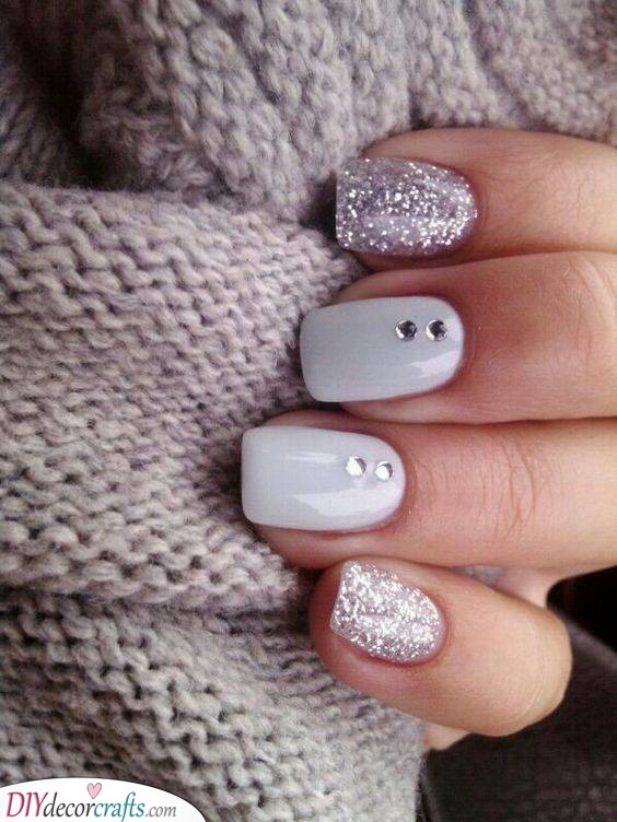 White and Sparkly - Perfect for Any Occasion