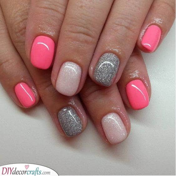 Pretty in Pink - Fun Nail Designs for Short Nails