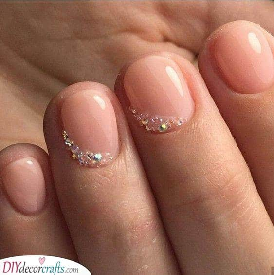 Clear Crystals - Fabulous Nail Designs for Short Nails