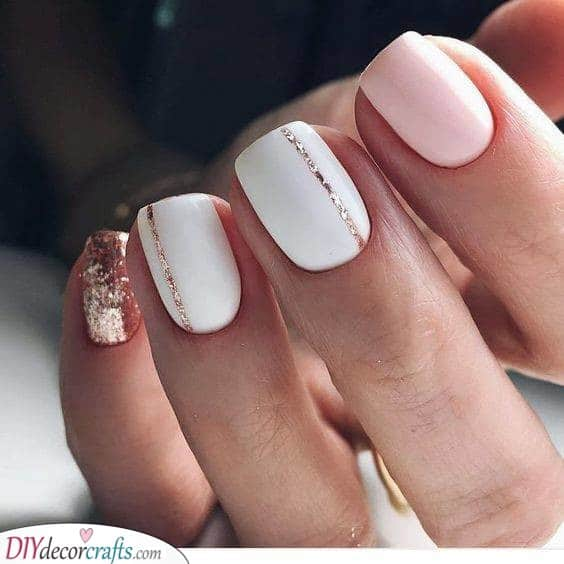 White, Gold and Pink - Sophisticated and Beautiful