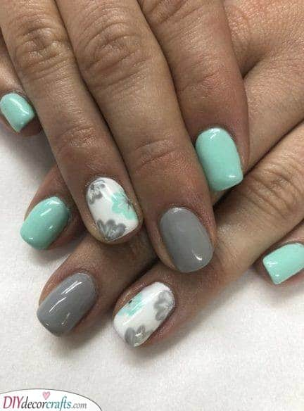 Florals for Forever - Nail Designs for Short Nails