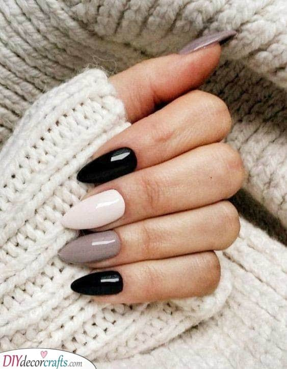Edgy and Monochrome - Black, White and Grey