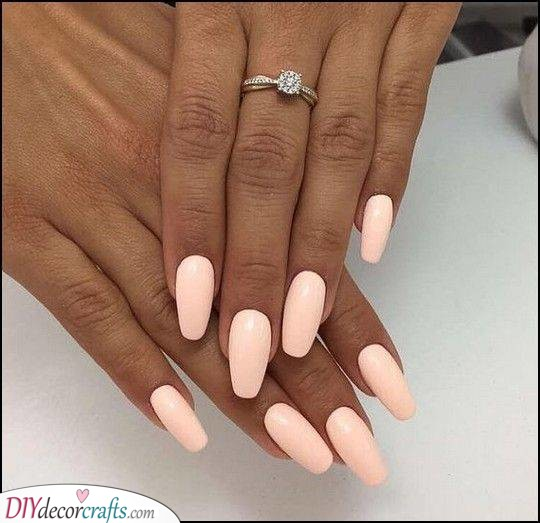 A Pale Peach - Great for Almond Shaped Nails