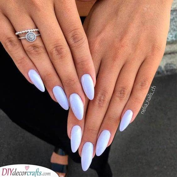 Like the Sky - Lovely Almond Nail Designs