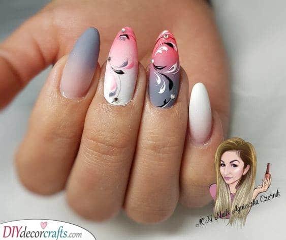 Trendy Nail Art - A Floral Pattern