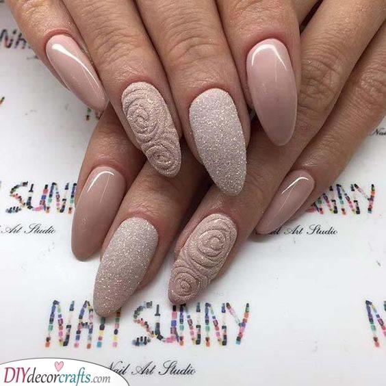 Roses in Glitter - Sandy Tones