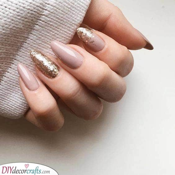 Glittery Gold - Combined With Pink