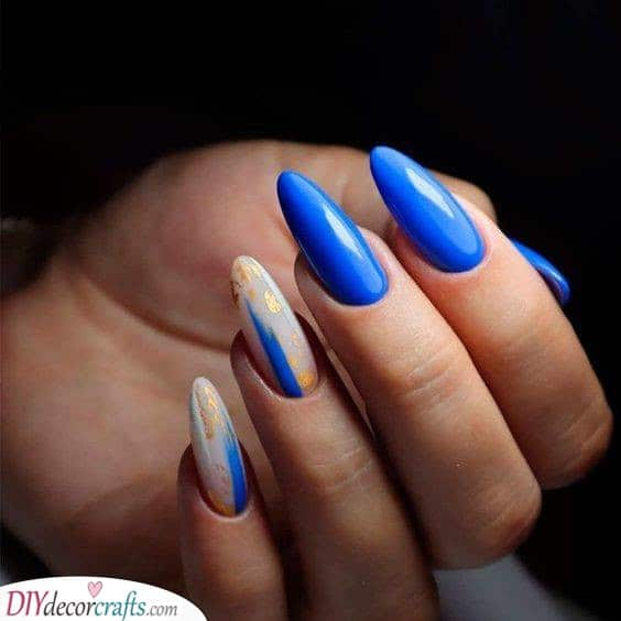 Shades for the Summer - Blue, White and Gold