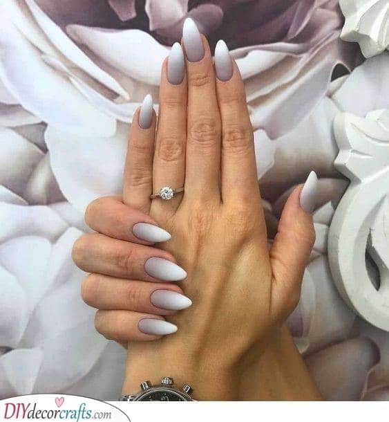 A Silver Ombre - Turning from Silver to White