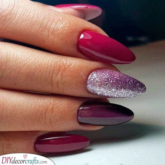 Shades of Red and Purple - A Feminine Touch