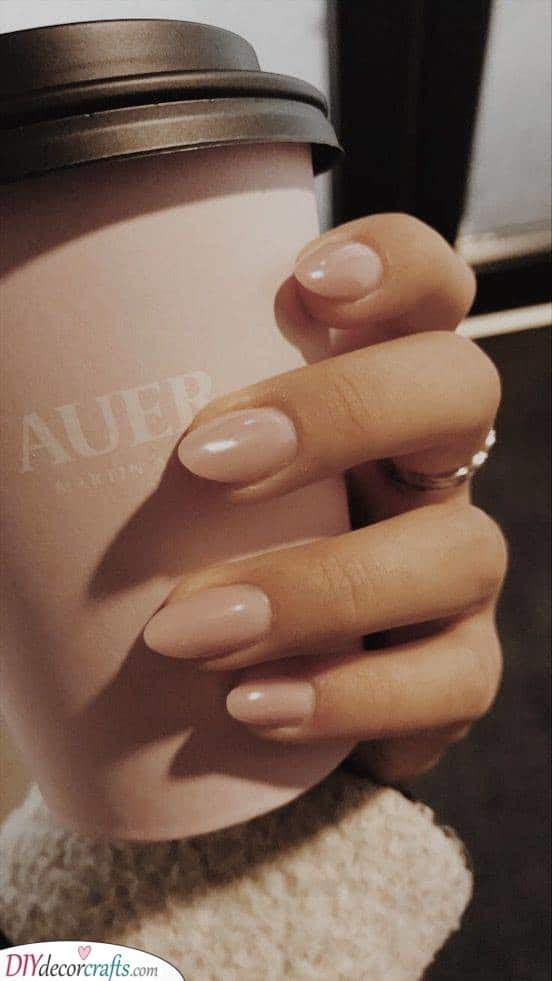 Soft Pink Tones - Almond Shaped Nail Ideas