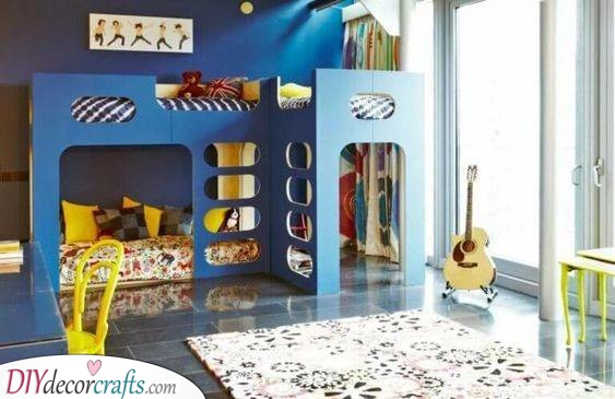 A Blue Bunk Bed - Great for Boys